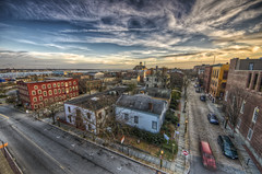 The Sun Sets on New Bedford (Frank C. Grace (Trig Photography)) Tags: sunset ma massachusetts newengland historic hdr elmstreet newbedford whalingmuseum tonemapped acushnetavenue whalingcity pentaxart trigphotography frankcgrace