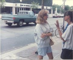 Ladies on Lake Street, 1986 (STUDIOZ7) Tags: girls urban chevrolet minnesota women young minneapolis pickuptruck uptown 80s twincities eighties 1980s mn lakest sonsofnorway norwestbank