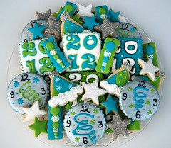 New Year 2012 (2) (christine-sugarcravings) Tags: clock cookie newyear partyhat streamers 2012