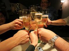 Toast to 2012 (hakee) Tags: david marina rachel howard toast champagne grace henry rufus madison teresa tami emeryville elmer hakee newyears2012