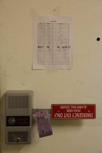Detex crash bar emergency exit unit