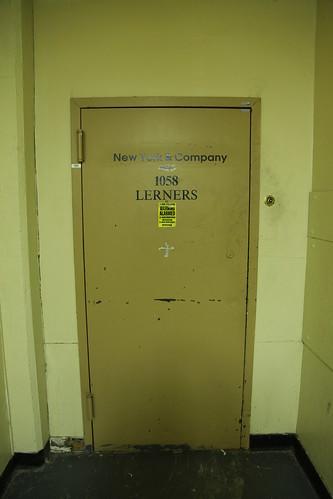 Former Lerner's store back door