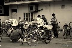 (mahmud.rassel) Tags: blackandwhite news bicycle canon newspaper blackwhite asia bongo streetlife dhaka bangladesh bangla bengali bangladeshi bangali