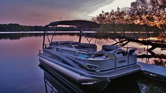 Dreaming of Summer Fun (chumlee10) Tags: county sunset sky lake color water wisconsin outdoors boat iron mercury sony mercer wi 60hp pontoon bimini a300 20ft fourstroke princecraft mygearandme mygearandmepremium