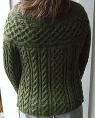 Kakariki cardigan (MiA Inspiration) Tags: green wool moss knitting buttons cables celtic knots cardigan kakariki handknitted stansborough mythral