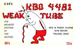Weak Tube - Toledo, Ohio (The Cardboard America Archives) Tags: ohio radio vintage postcard toledo card qsl cb amateur cbradio citizensband qslcard
