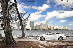 BMW M3 Convertible Weather (Yankis) Tags: auto red sky white tree water car skyline clouds photography bay nikon aluminum automobile key downtown european photographer ride suspension florida miami euro south wheels convertible automotive vert m professional step german fox whip bmw mineral pro lip mm hr m3 sick motorsports lowered dropped forged d3 beemer brickell slammed stance brushed biscayne coilovers 305 yanni bimmer mw 2470mm 2470 3piece e93 georgoulakis stanced