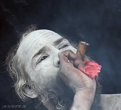 Holy Smoke2 (sudip bhattacharyya) Tags: portrait people closeup canon faces candid westbengal