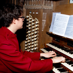 Laurence at the console (cathedralchoir) Tags: 2012 epiphany w777