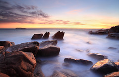 The Melting Pot (Ben Cue) Tags: sea blur sunrise rocks nsw nelsonbay portstephens themeltingpot zenithbeach tomaree tomareenationalpark interestinglandscape bencue