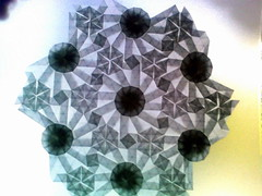 Dodecagon twist-1 (ЗЗ) Tags: art paper geometry twist tessellation tessellations tesselation paperfolding papiroflexia fujimoto chrispalmer octagons dodecagon flowertower shadowfold