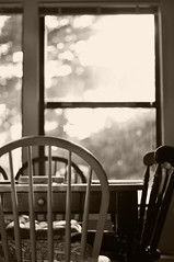 A Day in the Life {05} (Alison Breeden) Tags: window table chairs adayinthelife windowbokeh coffeeshopaction aplacetodoeverything thecenterofourhome