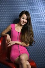 _DSC3162 (rickytanghkg) Tags: pink blue portrait woman lady female hair studio model pretty dress leg chinese young picnik