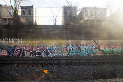 Skrew x Nope(?) x Vizie (Into Space!) Tags: city railroad urban art train screw graffiti photo tracks amtrak iao awr philly msk graff dope skrew piece d30 bombing nope philadelpia vizie d3o intospace intospaces