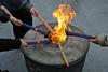Burning Incense Sticks at Jade Buddha Temple in Shanghai. (XavierParis) Tags: nikon d700 xavierhernandez xyber75