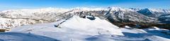 Choosing the way down... (RodaLarga) Tags: panorama snow landscape lumix panoramic powder lx5
