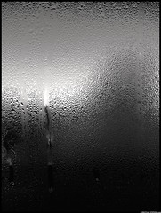 Condensation On A Sliding Door (Christian Stepien.com) Tags: door winter white ontario canada abstract black cold window project january christian heat condensation sliding mississauga 4s 2012 dagobah meadowvale iphone stepien