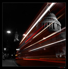 The bus to St.Pauls (bent inge) Tags: london nightshot cathedral stpauls panning londonbus london2012 nikond700 mygearandme bentingeask