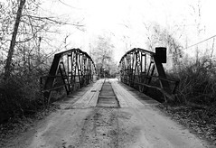 Pony Truss Bridge over Neches River Relief, CR1155 0114121607BW (Patrick Feller) Tags: pony truss bridge iron steel neches river relief easttexas texas pontist united states north america