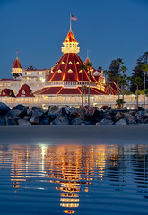 The Del in Blue (mojo2u) Tags: ocean california night hotel sandiego coronado hoteldelcoronado nikon2470mm nikond700