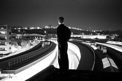b n w (rudgephotography) Tags: portrait urban bristol rooftops heights exploration urbex