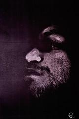 Photocopied self-portrait (®øß) Tags: blackandwhite selfportrait autoritratto photocopied fotopiato