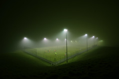 Foggy football (CardiganKate) Tags: mist man fog night dark football brighton foggy fences wideangle pitch players floodlit 5aside pitchinvasion sigma1020mm456 stanleydeason pentaxkr wwwkatebenjamincom