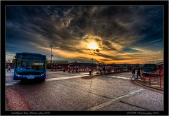 Castleford Bus Station Jan 2012 (nigelnaturist) Tags: uk winter england sky people sun bus nature buses station clouds photoshop yorkshire hdr arriva hivis wow1 wow2 castleford photomatix greatphotographers efs1022mmf3545usm canon40d flickraward5 ringexcellence dblringexcellence tplringexcellence nhbphotography eltringexcellence topazbw bbng