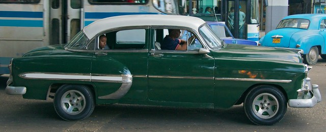 havana cuba passenger oldcar backseatdriver