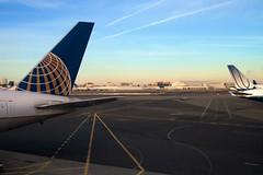 Waiting for the flight (mvahlenkamp) Tags: tarmac aircraft planes newark converginglines