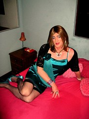 47 - Sweet Transvestite (Julie Bracken) Tags: old red party portrait fashion hair ginger tv cd mini skirt crossdressing tgirl transgender mature tranny transvestite heels crossdresser nylon trannie mtf m2f feminized enfemme xdresser tgurl feminised transsisters julieb85