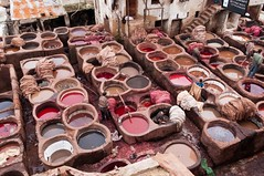 Fez medina (ALSPICT) Tags: africa old red color colour tourism leather colorful industrial skin crafts craft morocco fez medina historical dye craftsman tanning moroccan fes tannery