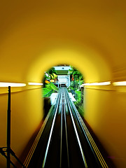 I'm Going Down (Haryth Hayqal) Tags: lighting light plant green nature composition train landscape scenery dof bokeh top hill transport rail tunnel slowshutter summit penang railways tone bukitbendera