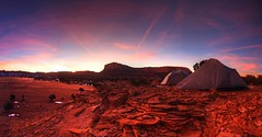 A Room With a View (Zach Dischner) Tags: camping sunset canon eos utah big colorful purple natural or it tent 7d scape campsite natre not superpano canon7d tamron1750believe