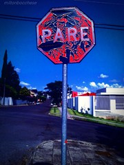 Hey you, stop! (Miltondb3) Tags: street sky house me rock brasil flickr stop eua skate musica milton nuvem transito facebook barackobama twitter stopyou dilmaroussef miltonbocchese nowmymindisopen