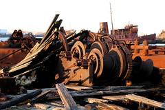 Rusty Machinery (abandonednyc) Tags: nyc newyork abandoned decay shipwreck urbanexploration nautical statenisland arthurkill boatgraveyard