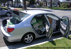Car full of beta tapes.... No joke (Dying In Downey) Tags: car michael beta full tapes poulin betamax dyingindowneycom