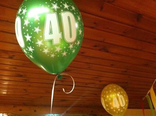 Heliumballonnen 40 Jaar