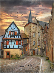 The blue house (Jean-Michel Priaux) Tags: street house france architecture painting village place medieval alsace paysage rue picturesque hdr pavel colombage pitoresque routedesvins priaux superaplus aplusphoto kientzheim bestcapturesaoi photosuop mygearandme ringexcellence
