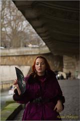(RSED Photography) Tags: portrait woman paris colors beautiful beauty fashion paper fan model belle papier ventilateur ventail canon7d