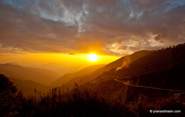 Sun Sets On Nathu La