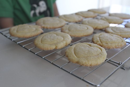 heart glazed cornmeal cookies