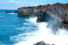 spraybow (noveli77) Tags: sea lava waves lanzarote cliffs spray spraybow