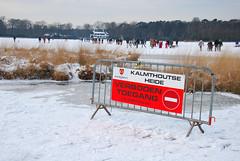 Verboden (off limits) (larry_antwerp) Tags: winter belgium kalmthout
