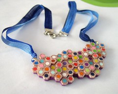 Faux pencil slice necklace 848 (Angela.B) Tags: rainbow colorful polymerclay fimo creation faux multicolor coloredpencil
