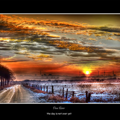 the day is not over yet (Explore) (Peter Roder) Tags: world schnee trees winter shadow sun mist snow reflection ice nature grass birds clouds way frozen sonnenuntergang sundown dusk wolken gras eis sonne sonnenaufgang weg reflektion dunst gefroren galleryoffantasticshots