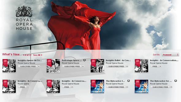 iTunes U homepage
