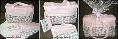 Bolsa beb, trocador e  porta chupeta. (fatimalt) Tags: quilt beb patchwork maternidade tecido ziper sacola trocador necessarie kitparamaternidade