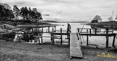 Waiting for the summer.. (Kvervil) Tags: bw girl oslo norway canon eos spring april beache huk canoneos5dmarkiii eos5dmarkiii
