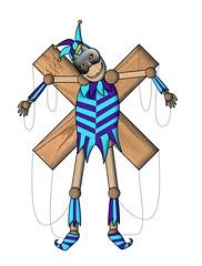Harleking (Black Dmon) Tags: marionette maske zeichnung grinsen harlekin